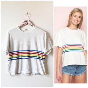 BRANDY MELVILLE John Galt Aleena Rainbow Stripe S